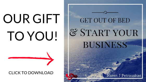 Get Out of Bed and Start Your Business - our free eBook gift for you. Download now