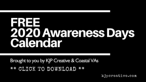 2020 awareness days calendar free download