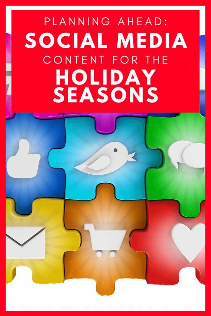 Create social media content in advance when it comes to your online marketing and going away for the holiday season