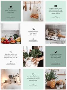 Instagram grid layouts - diagonal