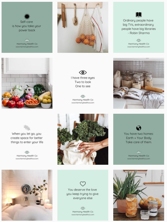 Instagram grid layouts - diagonal