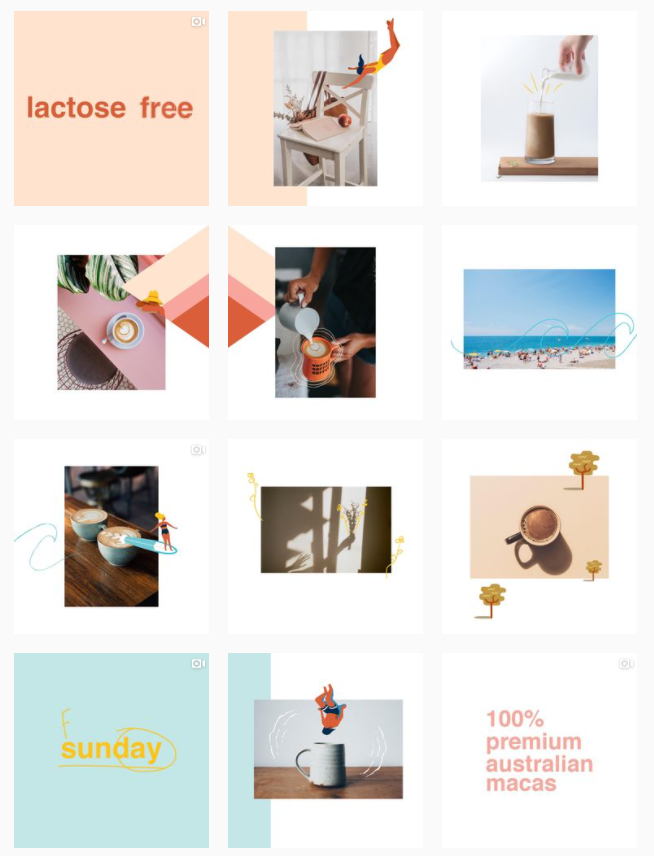 Instagram grid layout - mixed up
