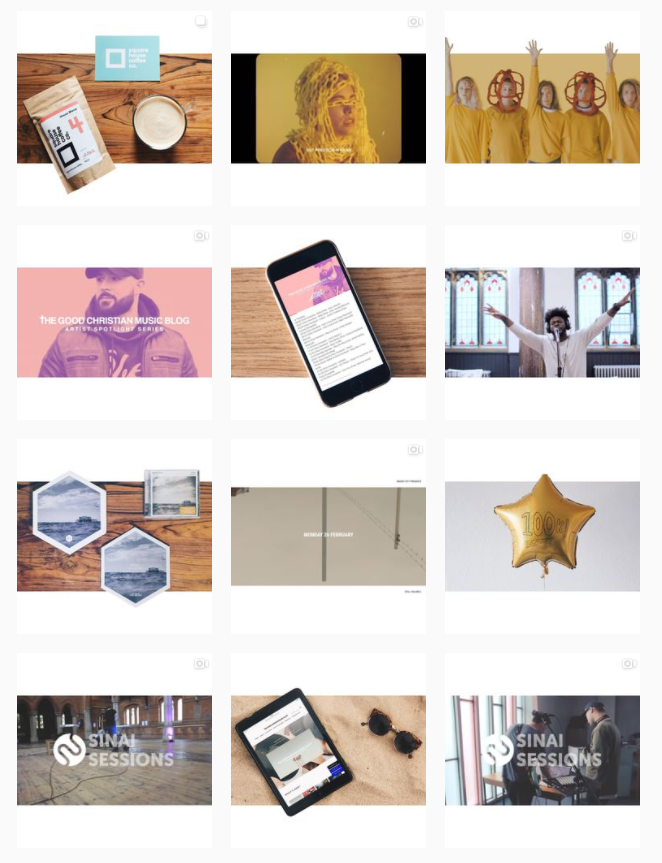 Instagram grid layout - no boarders