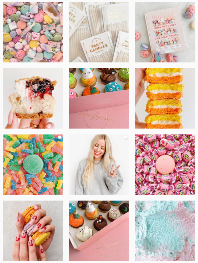 Instagram grid styles - random