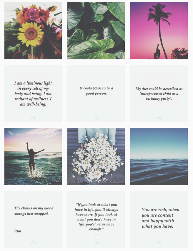 Instagram grid layout - rows