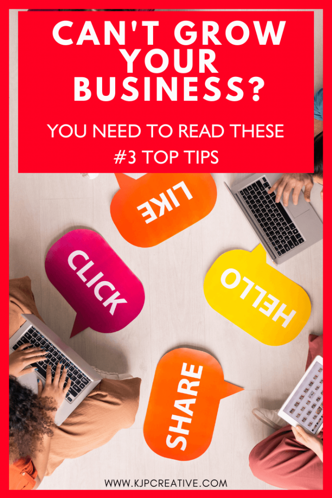 3 top tips to get quick results on social media and see business growth | KJP Creative